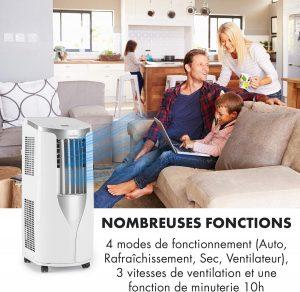 climatiseur mobile silencieux Klarstein